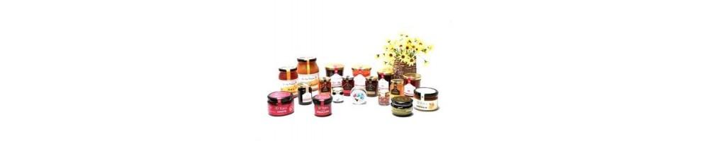 marmeladas, compotas e mel: