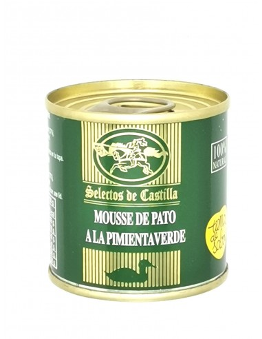 Mousse de pato a la pimienta verde